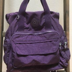 Kipling Alvy Convertible Bag Purple